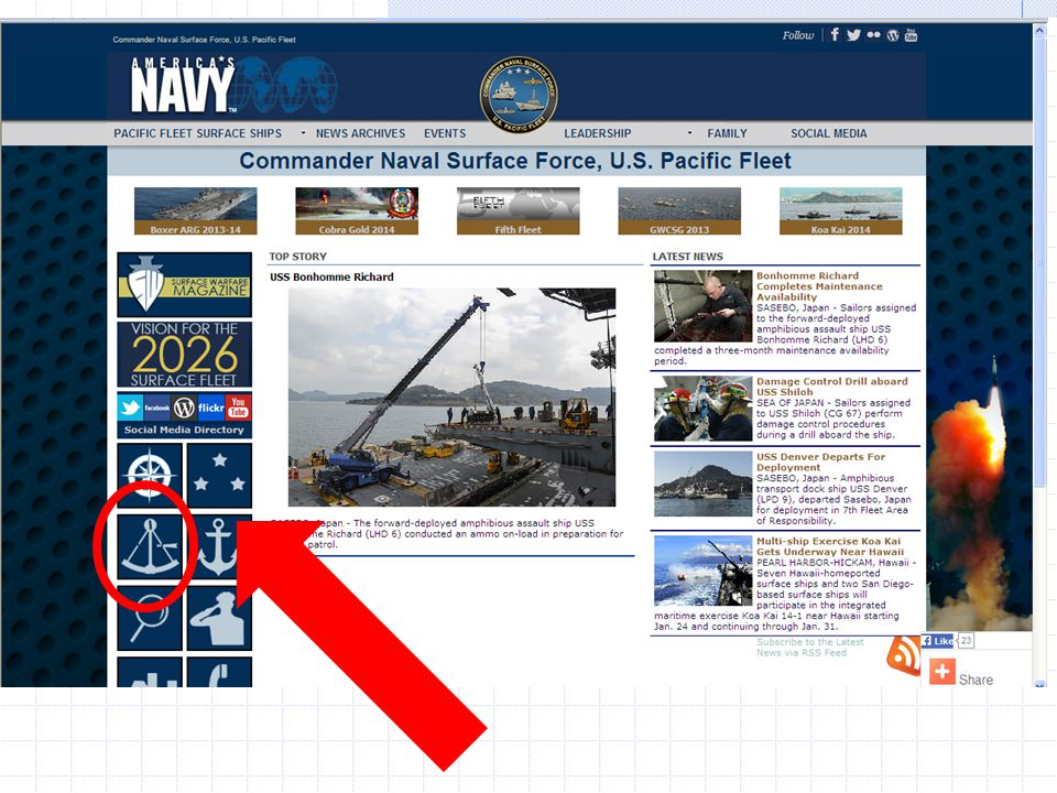 Ship's website