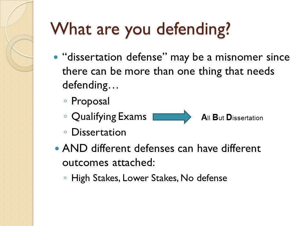 What are you defending.