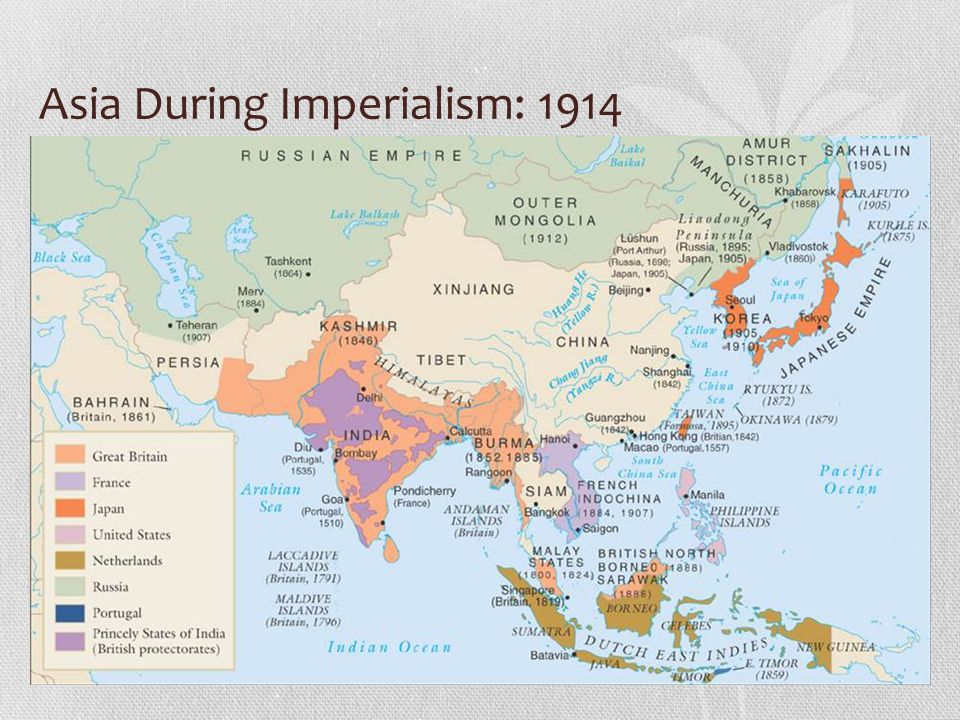 Asia During Imperialism: 1914