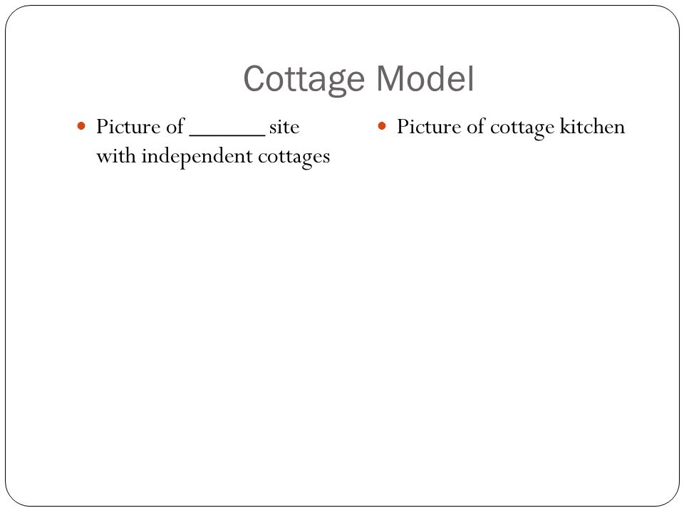 Cottage Model Picture of ______ site with independent cottages Picture of cottage kitchen