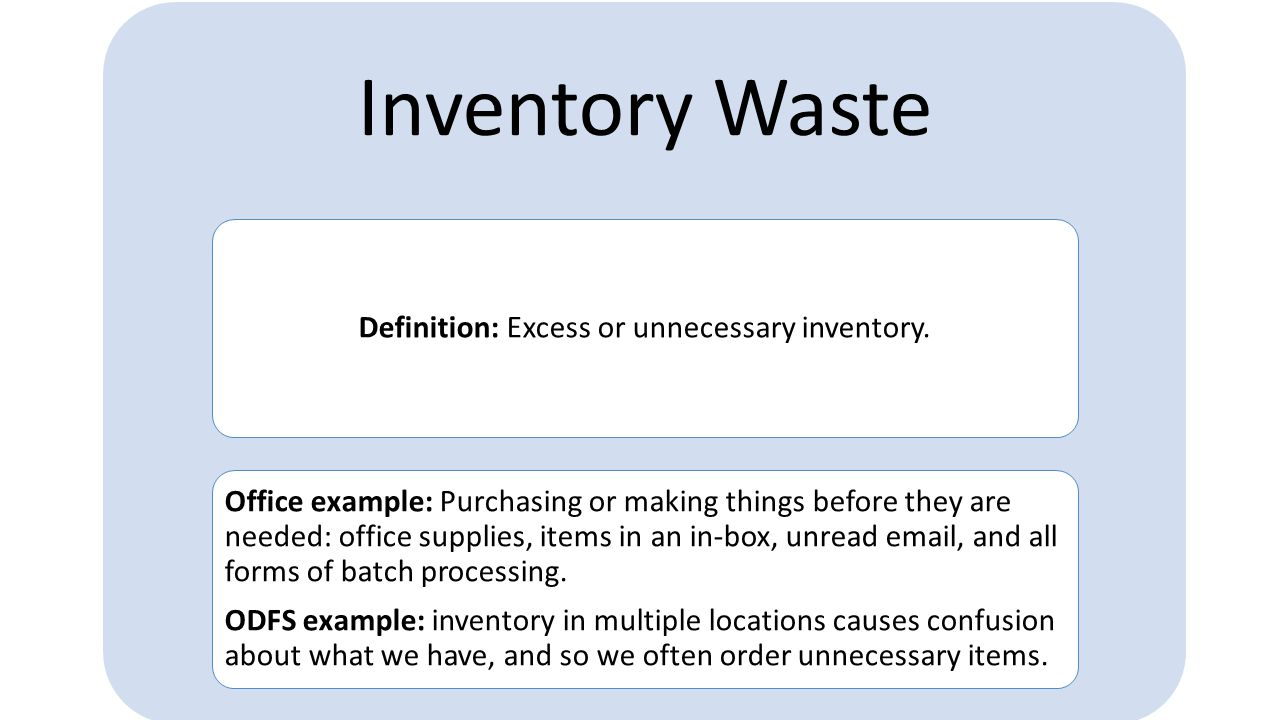 Motion Waste Definition: Extra or unnecessary physical motion to perform a task or process.