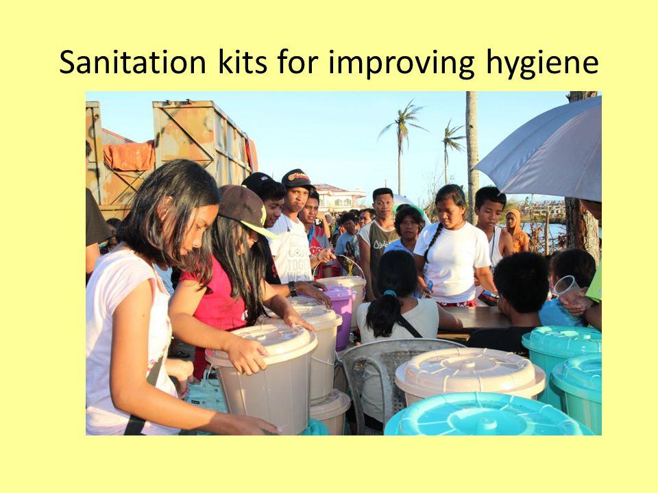Sanitation kits for improving hygiene