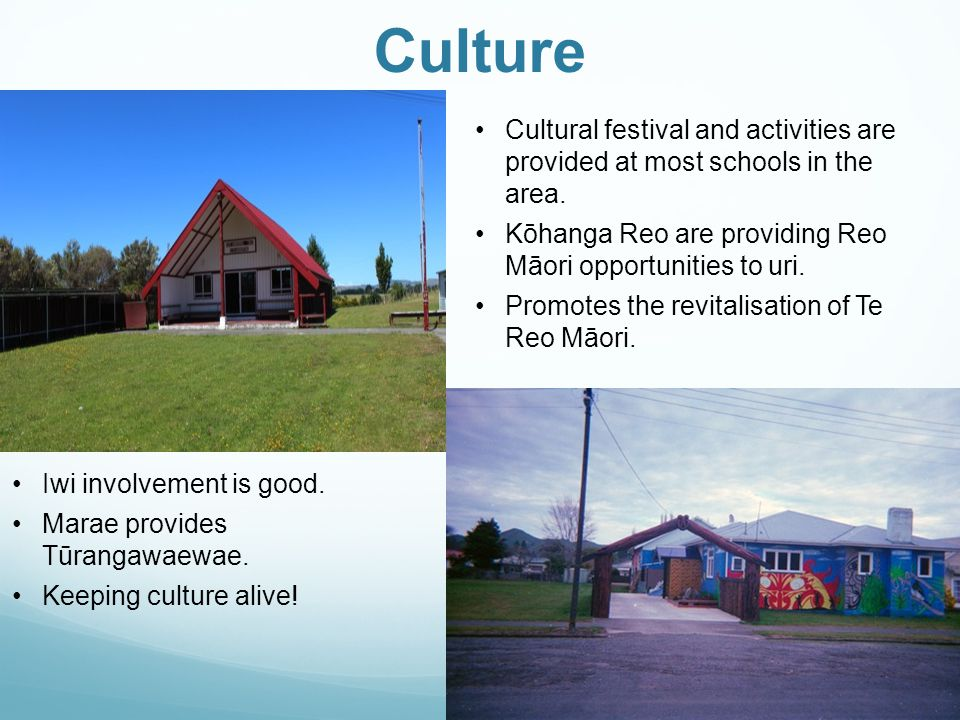 Culture Cultural festival and activities are provided at most schools in the area.