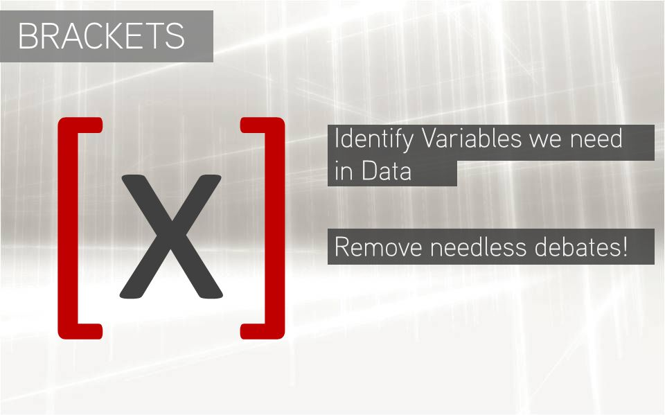 [x][x] Identify Variables we need in Data Remove needless debates! BRACKETS