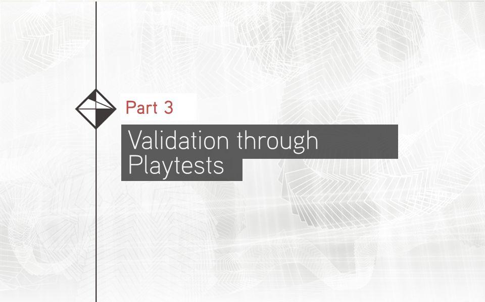 Validation through Playtests Part 3