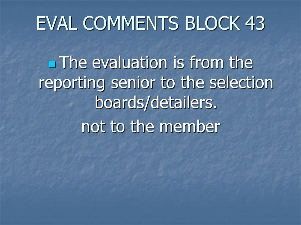 ASSIGNMENTS ASSIGNMENTS  The Board considers special assignments per precept.
