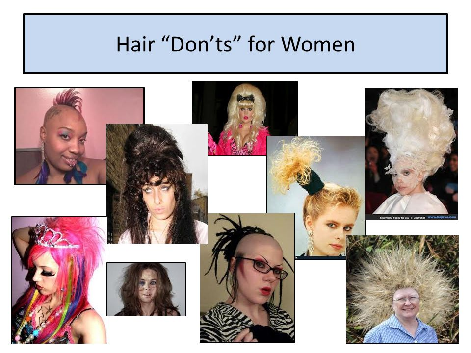 Hair Don'ts for Women