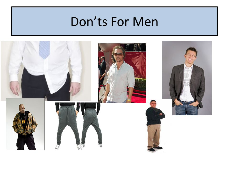 Don'ts For Men