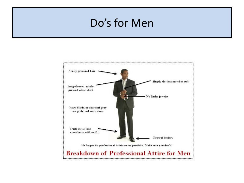 Do's for Men