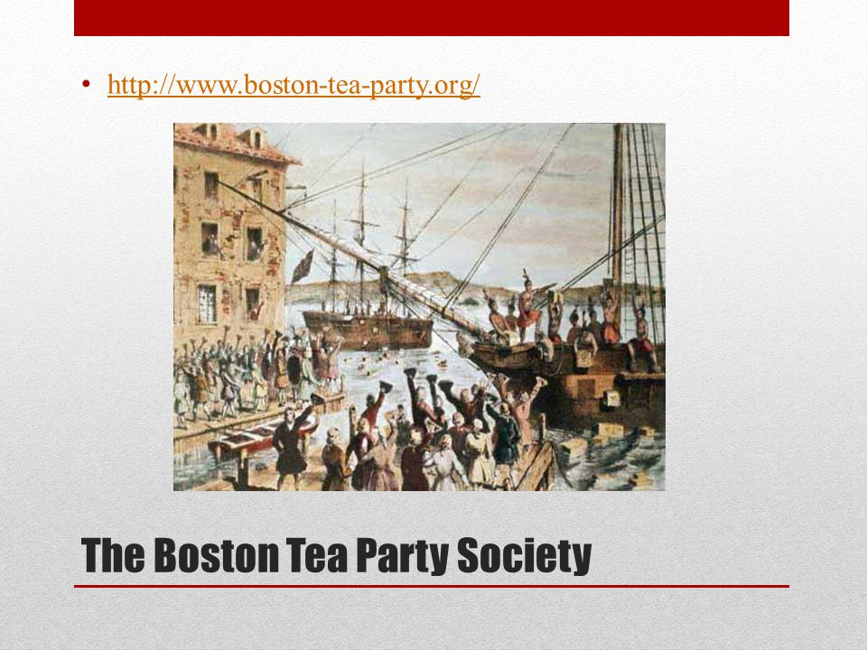 The Boston Tea Party Society