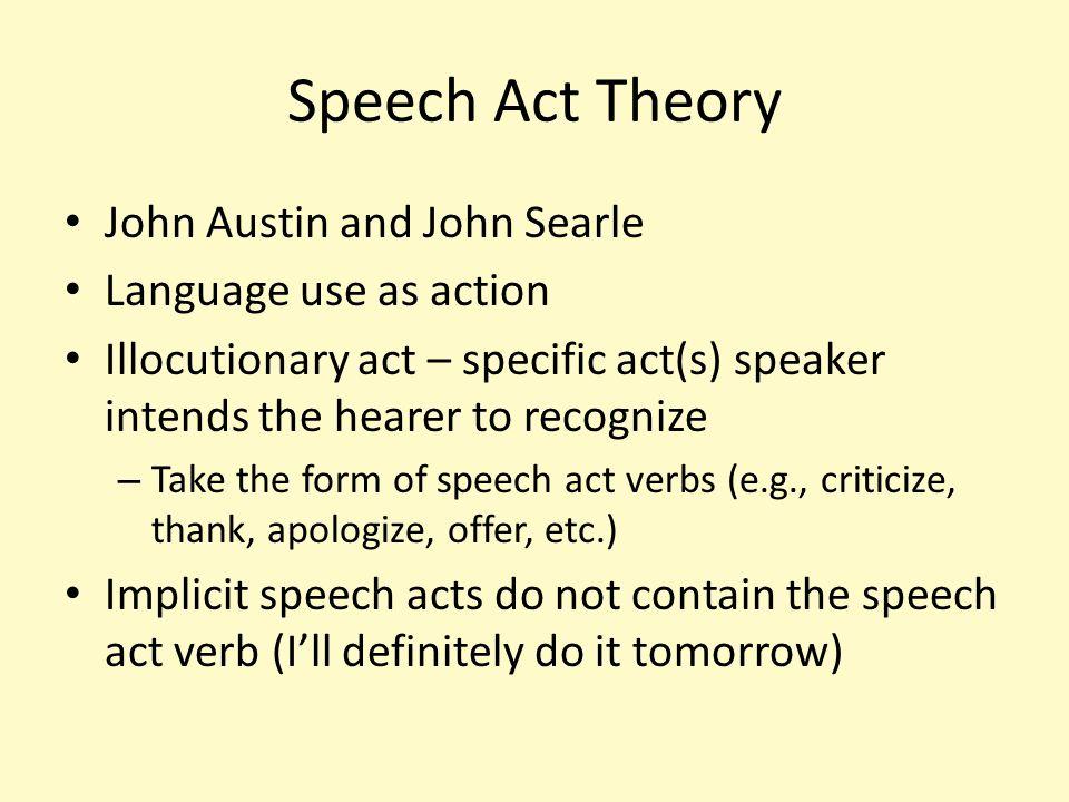 Implicit Speech Acts