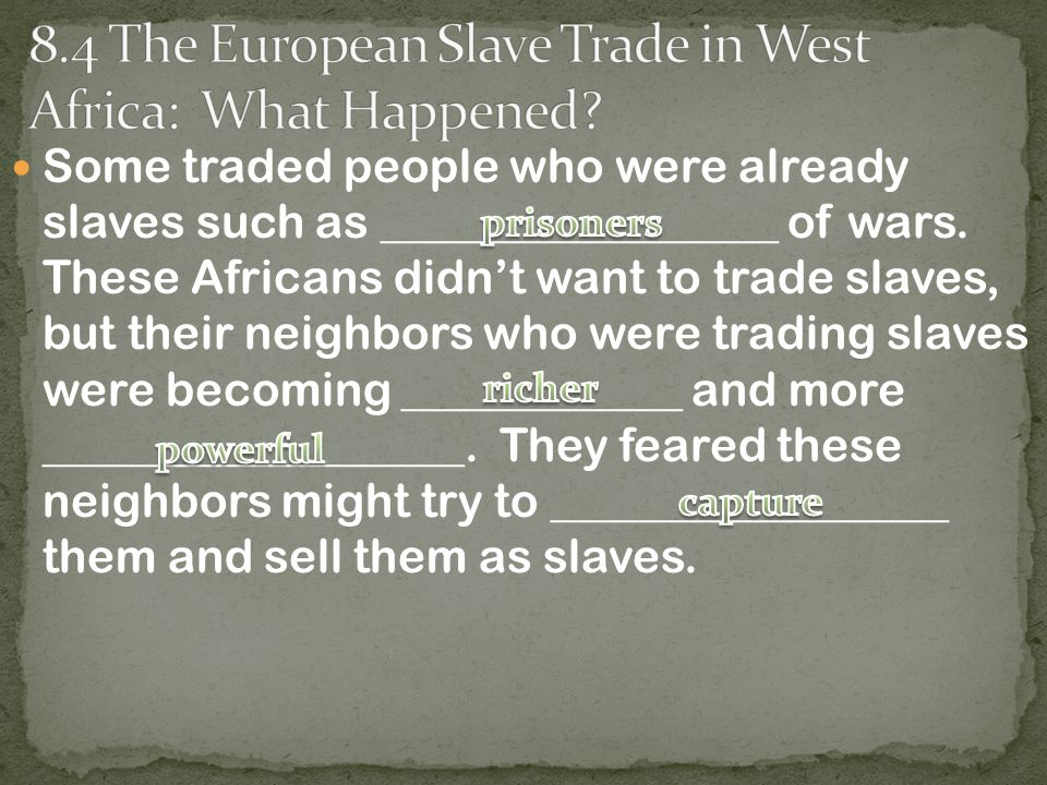 Slaves reacted differently to their new lives on plantations.