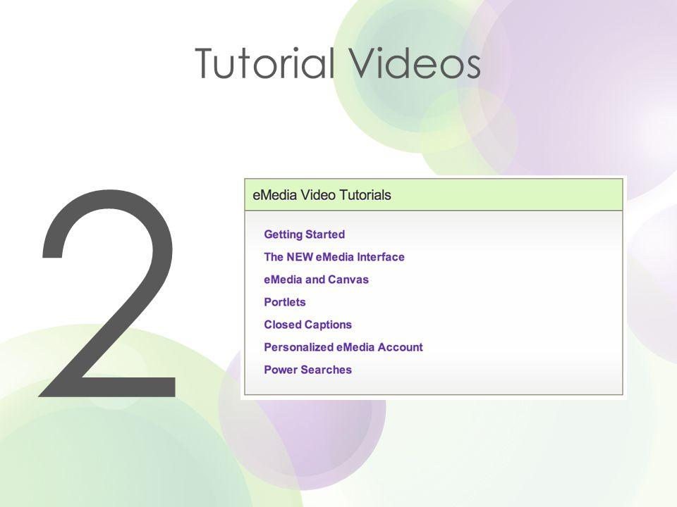 Tutorial Videos 2