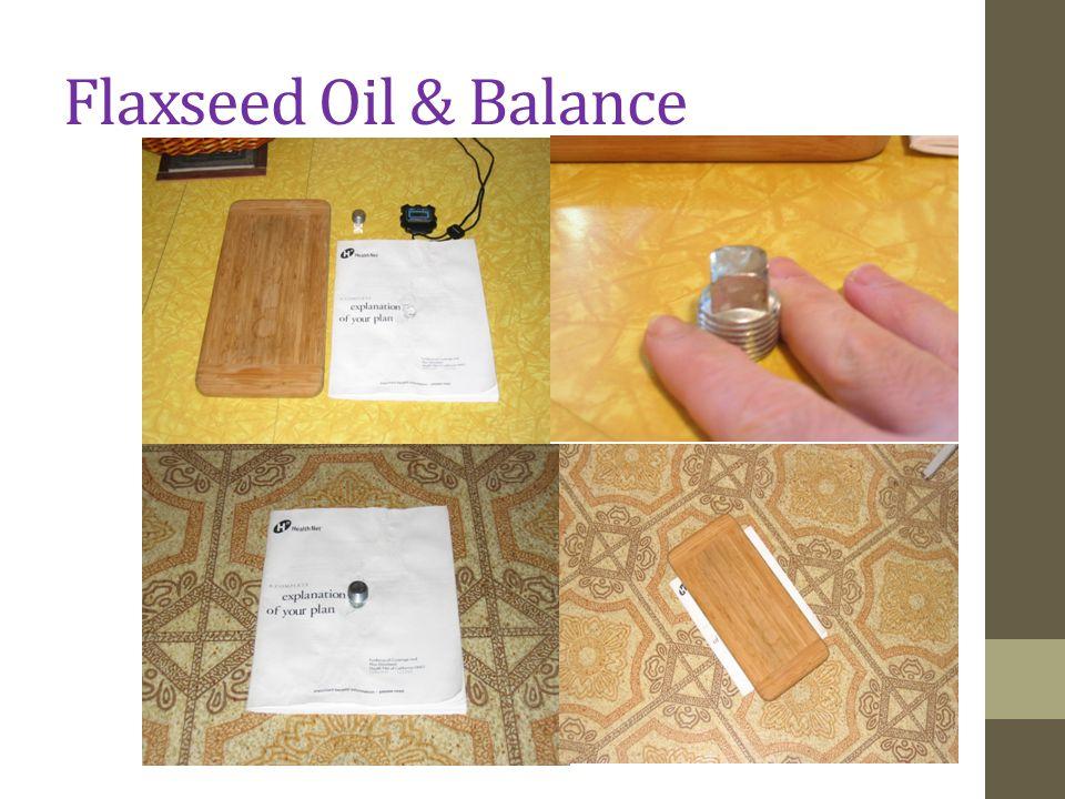 Flaxseed Oil & Balance