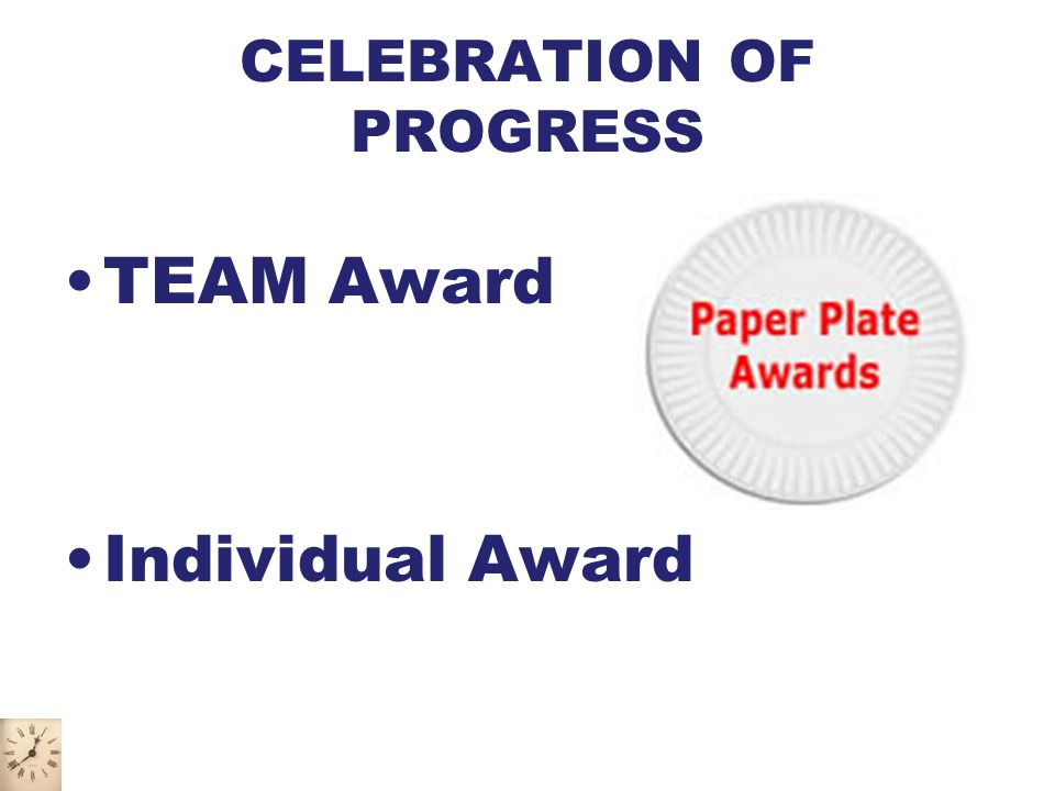 CELEBRATION OF PROGRESS TEAM Award Individual Award