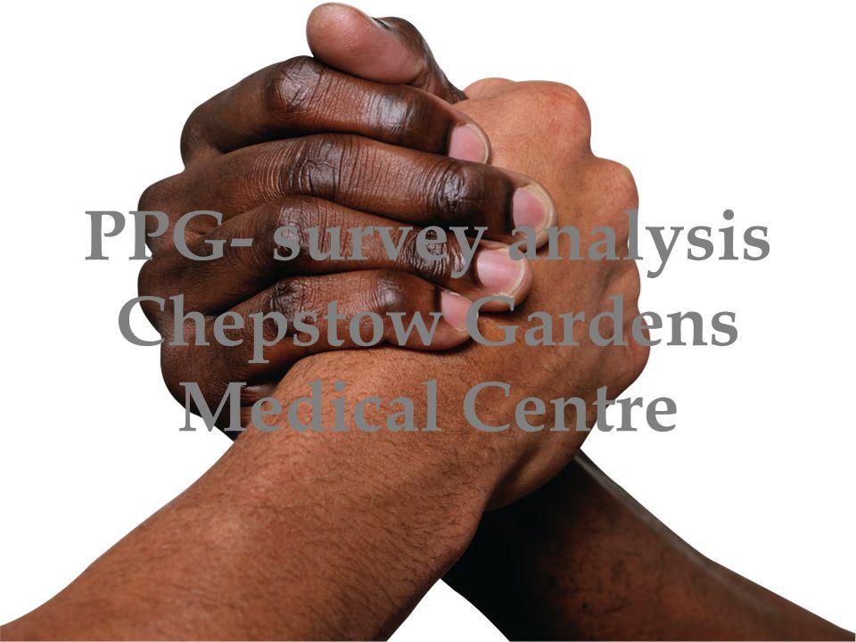 PPG- survey analysis Chepstow Gardens Medical Centre