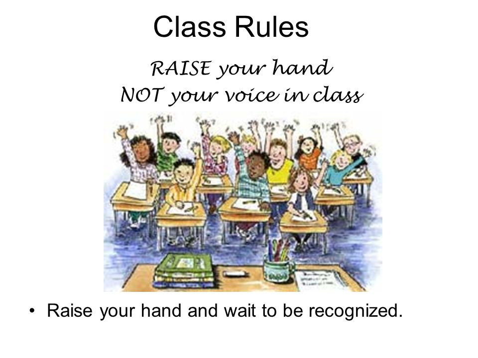 Class Rules I will not accept cheating, copying or plagiarizing papers.