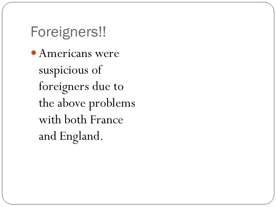 Foreigners!.