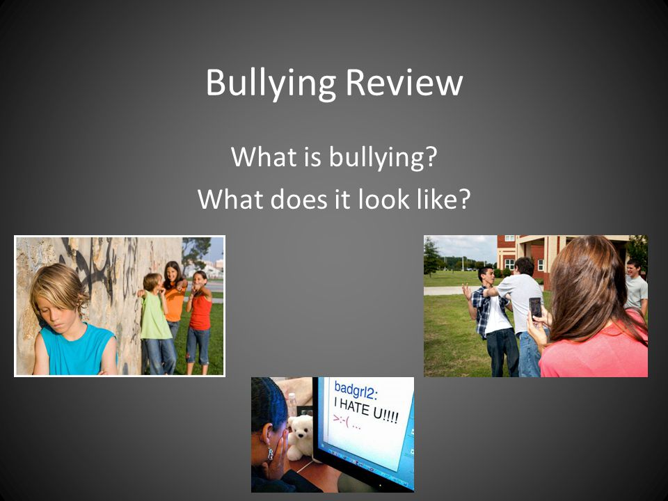 What to do when we see bullying.