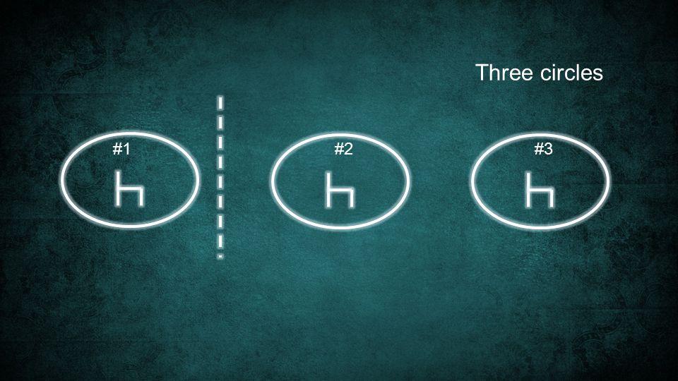 Three circles #1#2#3