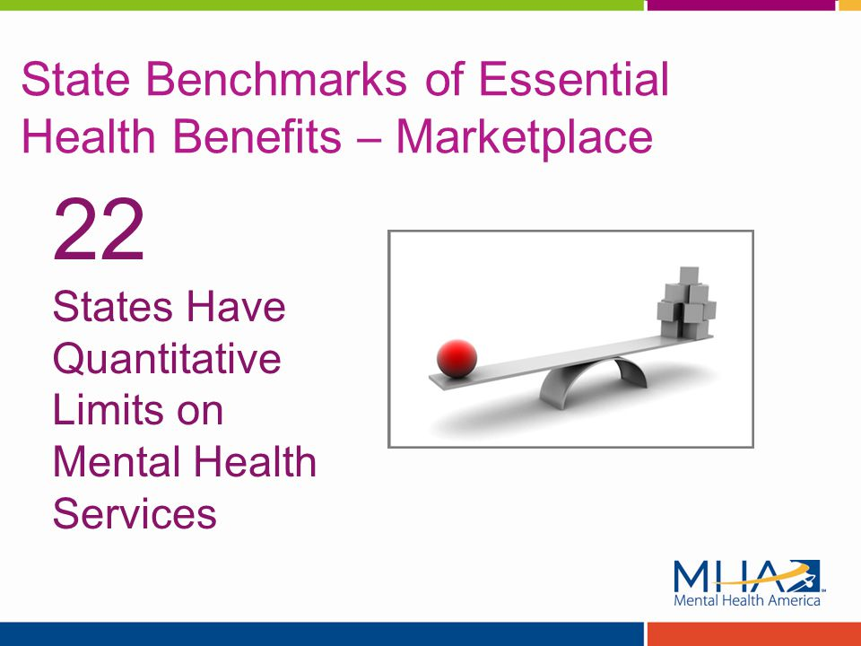 State Benchmarks of Essential Health Benefits – Marketplace 22 States Have Quantitative Limits on Mental Health Services