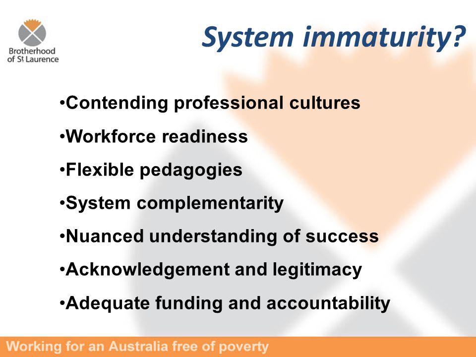System immaturity.