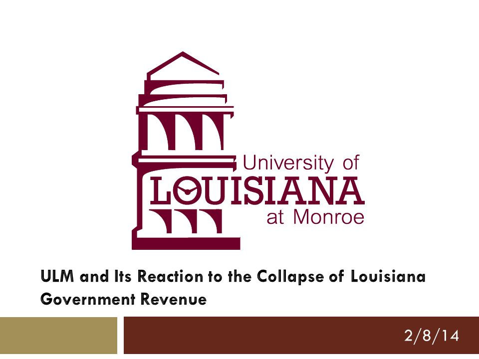 Or… North of Exit 80: Observations on Higher Education in Northern Louisiana with Comments on Causes of and Responses to Budget Problems 2