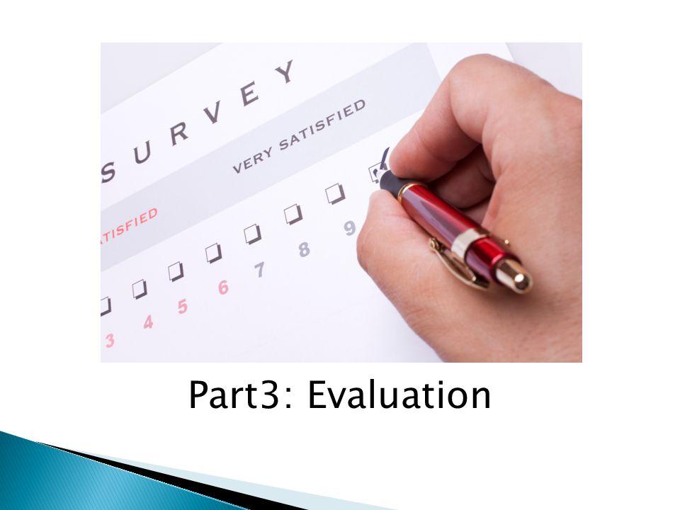 Part3: Evaluation