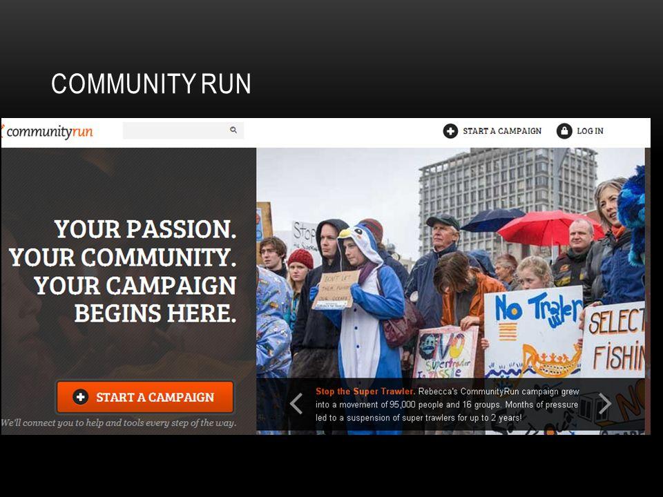 COMMUNITY RUN http://www.communityrun.org/