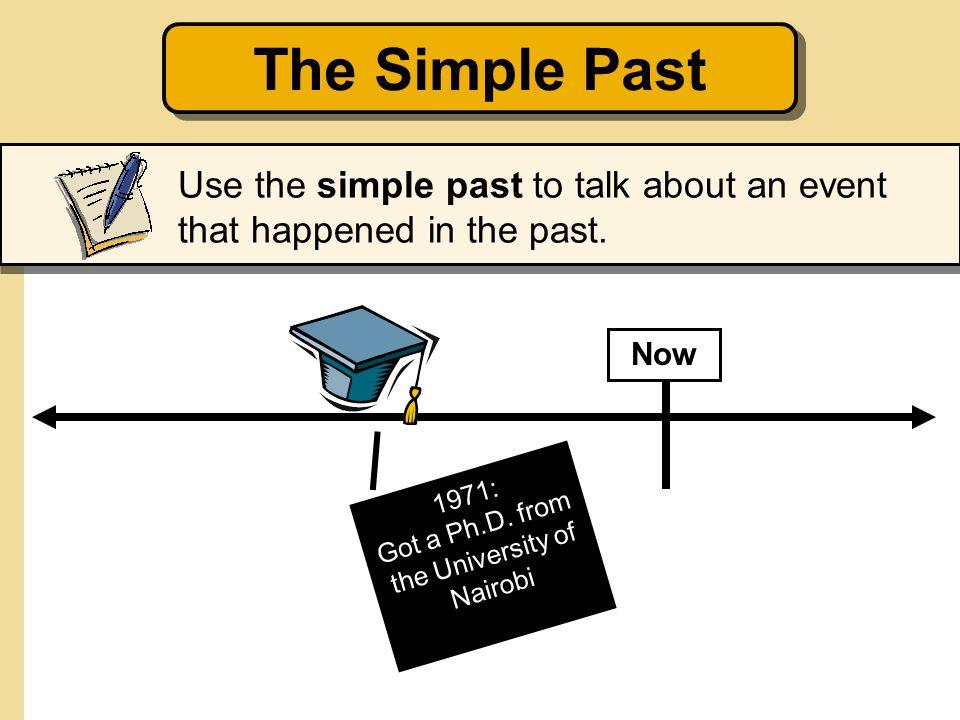 1971: Got a Ph.D.