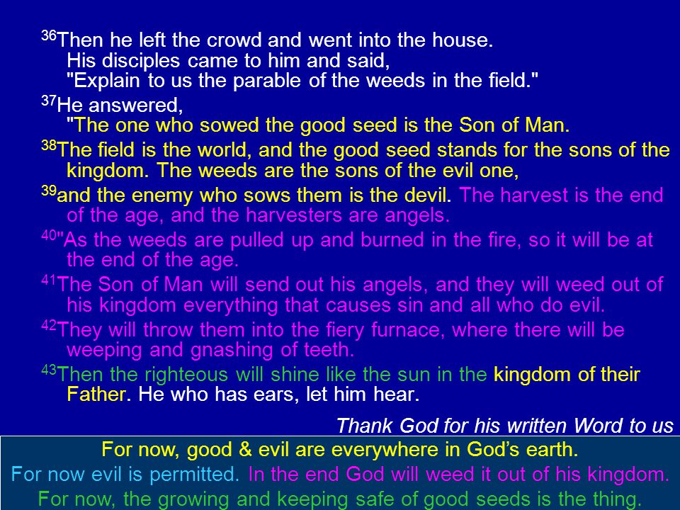 36 Then he left the crowd and went into the house. His disciples came to him and said,