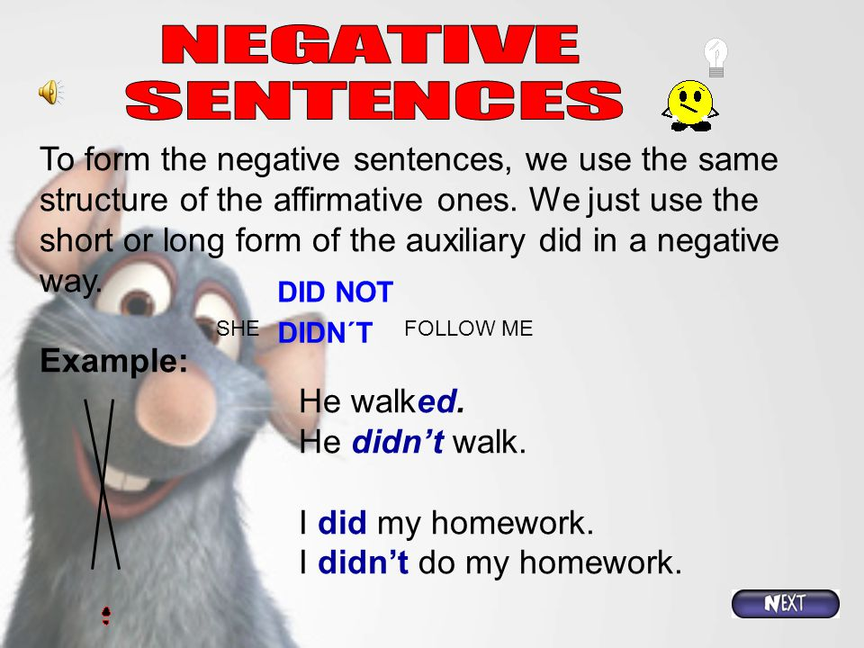 We use the auxiliary DID when we are talking about the past tense, for the negative or interrogative statements. We use the same auxiliary DID for all