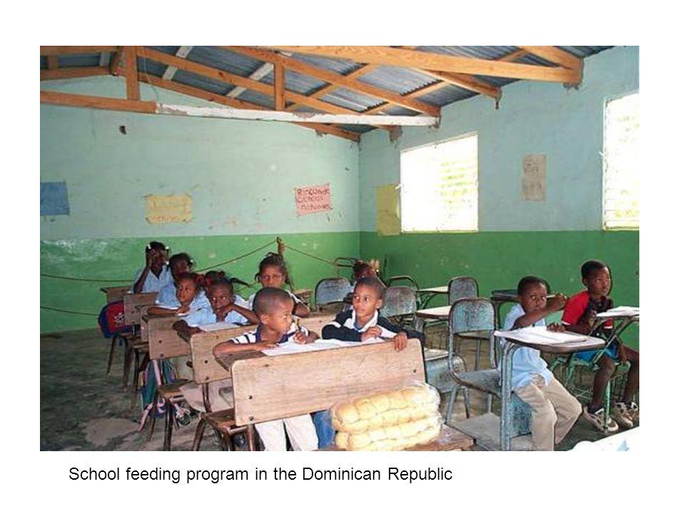 School feeding program in the Dominican Republic