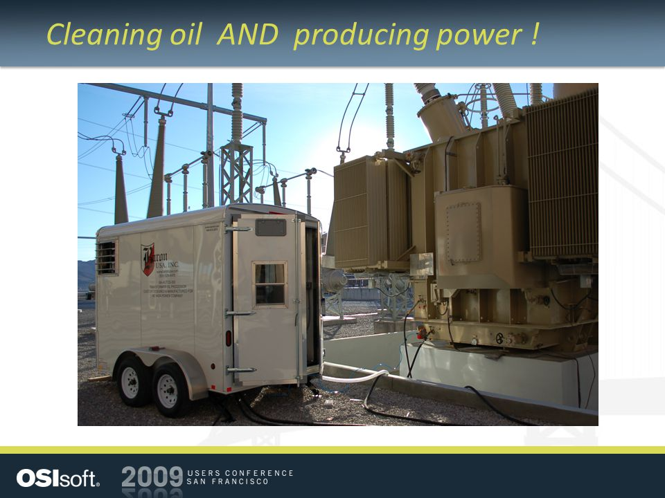 Cleaning oil AND producing power !