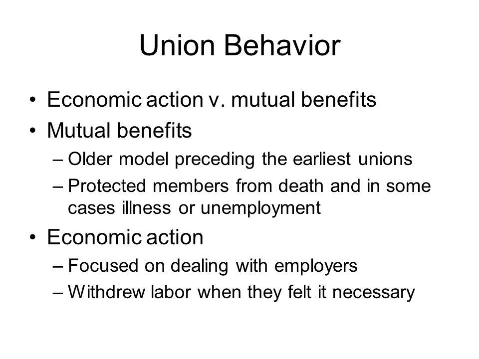 Union Behavior Economic action v.