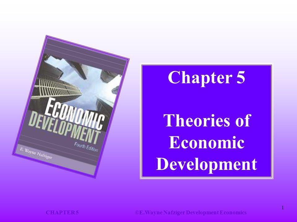 CHAPTER 5©E.Wayne Nafziger Development Economics 1 Chapter 5 Theories of Economic Development