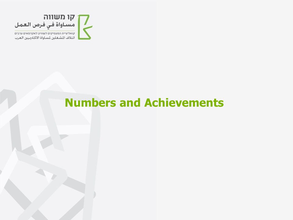 Numbers and Achievements