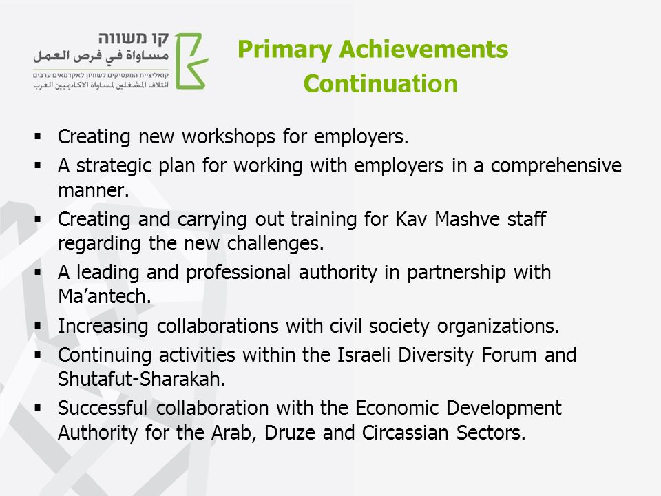  Creating new workshops for employers.