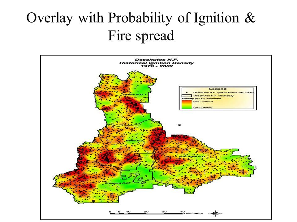 Overlay with Probability of Ignition & Fire spread