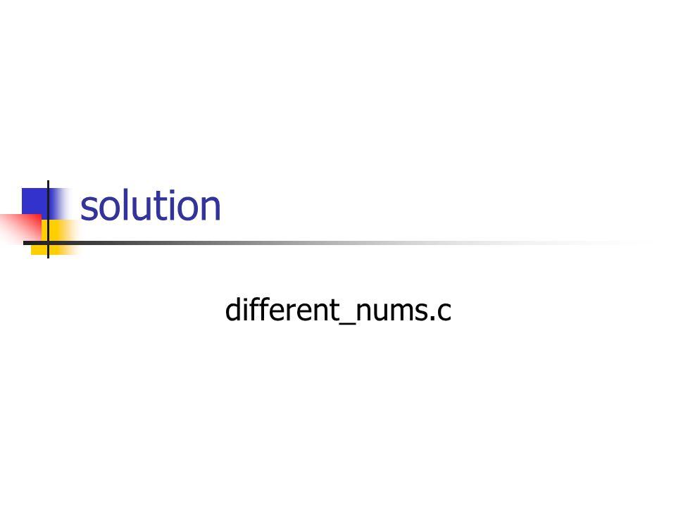solution different_nums.c