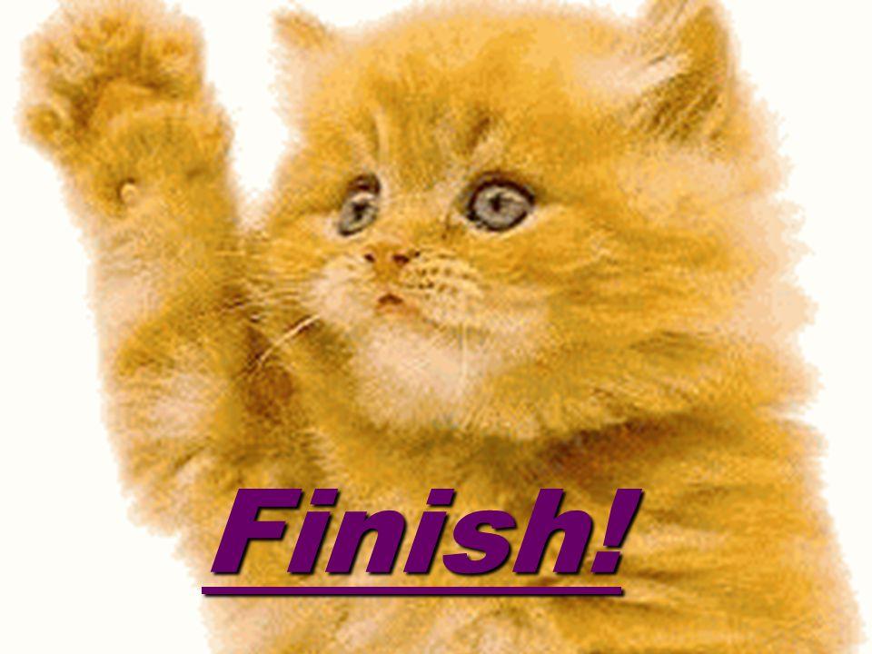 Finish! Finish!