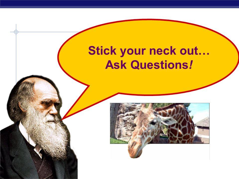 AP Biology LaMarckian vs. Darwinian view  LaMarck  in reaching higher vegetation giraffes stretch their necks & transmits the acquired longer neck t