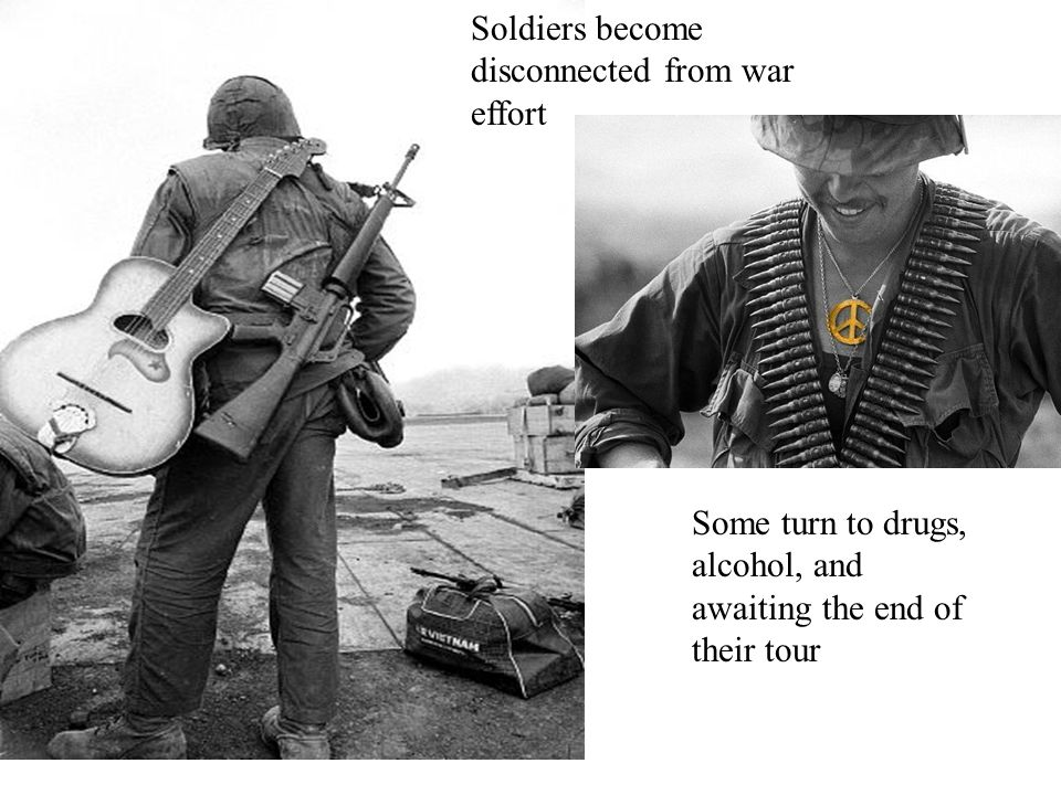 Declining Troop Morale American forces in Vietnam faced many challenges.