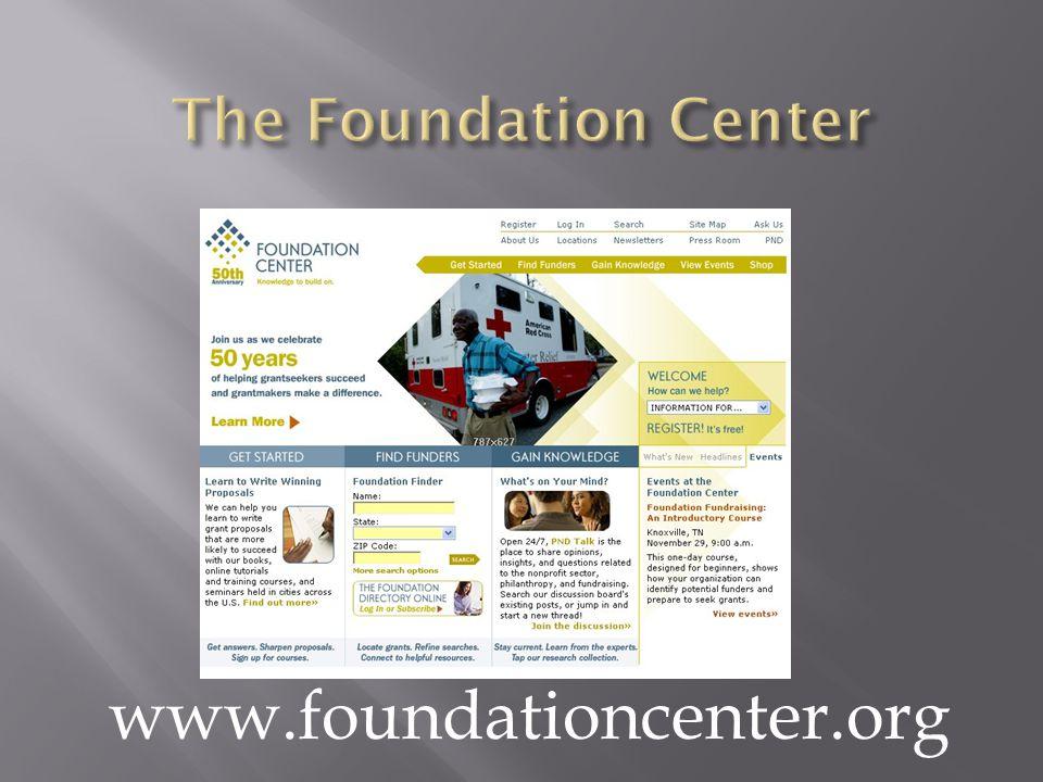 www.foundationcenter.org
