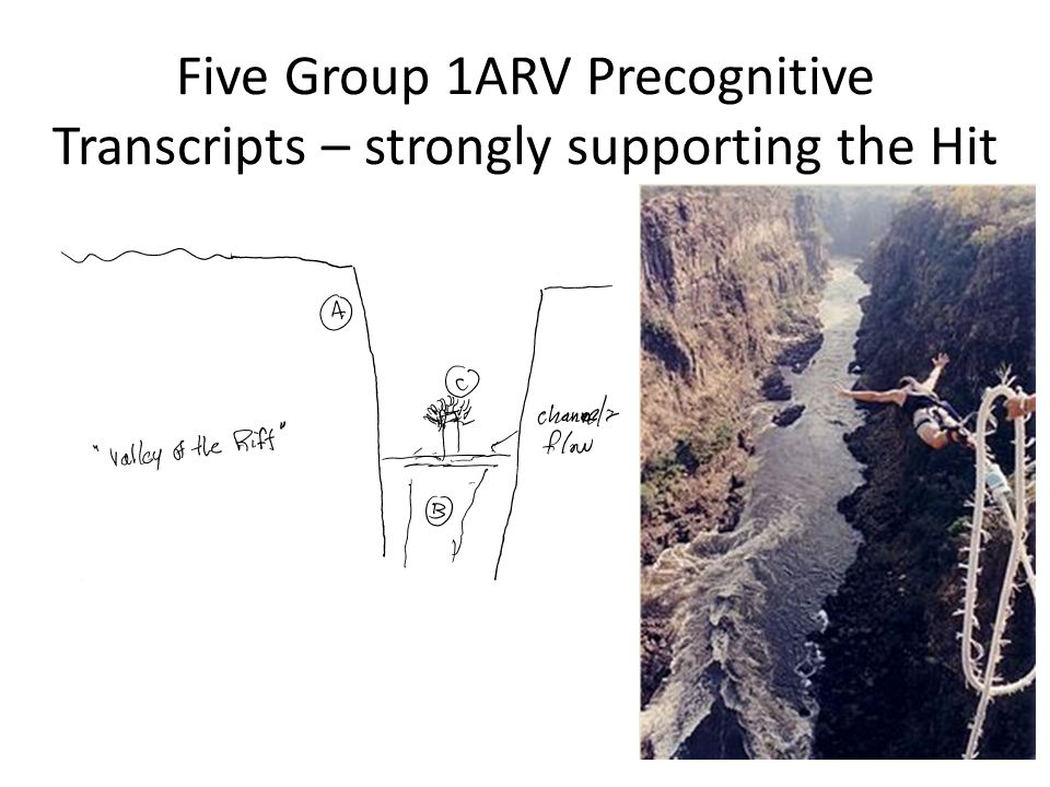 Five Group 1ARV Precognitive Transcripts – strongly supporting the Hit