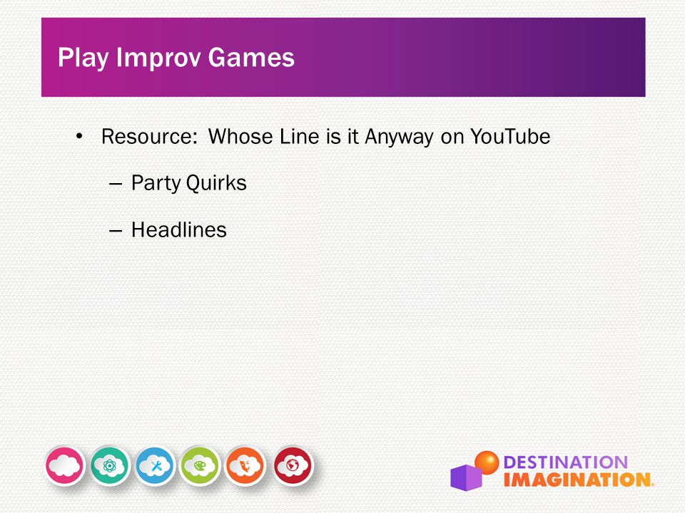 Resource: Whose Line is it Anyway on YouTube – Party Quirks – Headlines Play Improv Games