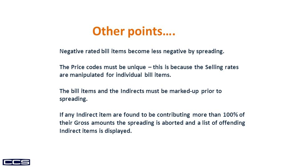 Negative rated bill items become less negative by spreading.