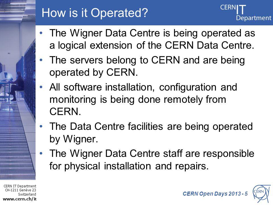 CERN IT Department CH-1211 Genève 23 Switzerland www.cern.ch/i t Why was Wigner Chosen? The Wigner Data Centre was chosen after a tender open to all 2