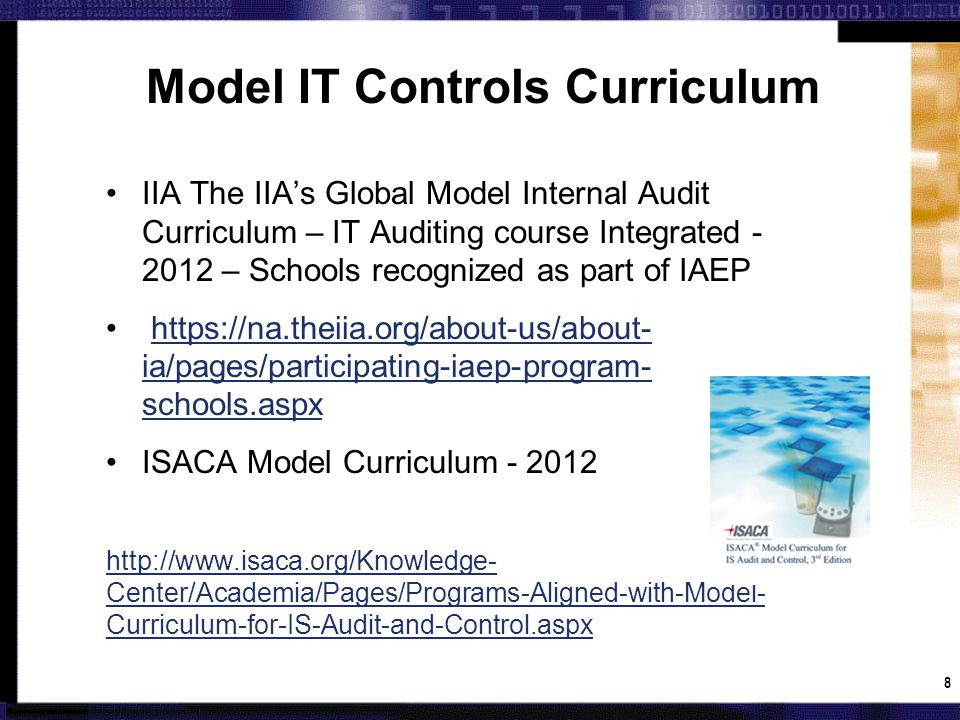 What does a University IT Audit and Risk Management Course Objectives look like.