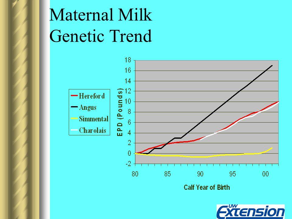 Maternal Milk Genetic Trend